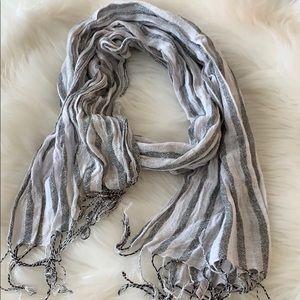 White gray scarf